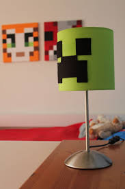 Minecraft Creeper Lamp Some Black Felt Lovely Lime Green Another Ikea Special