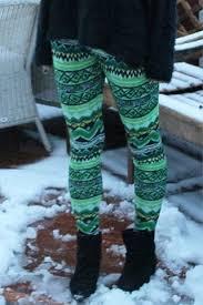 Stylish Elastic Waist Skinny Printed Colored Womens Leggings