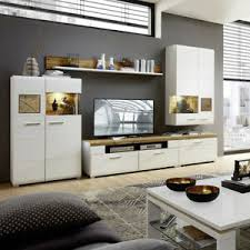 details zu wohnwand weiß matt anbauwand wohnzimmer set plus eiche altholz und hirnholz