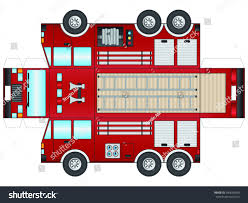 100 Fire Truck Template Outline Cut Out Glue Stock Vector Royalty Free