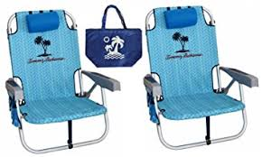 Panama Jack Beach Chair Backpack by Amazon Com 2 Tommy Bahama Backpack Beach Chairs Light Blue 1