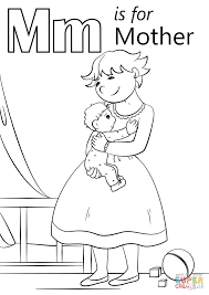 Click The Letter M Is For Mother Coloring Pages