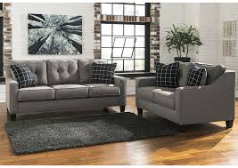 Irving Blvd Furniture Brindon Charcoal Sofa and Loveseat