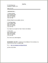 Resume Reference Page By Occupational Exles Sles Free