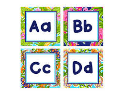 Preppy Tropical Lilly Word Wall Letters And Editable Cards
