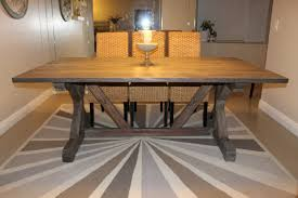 Weathered Grey Dining Table Ana White Gray Fancy X Farmhouse With Extensions 24