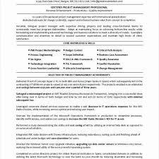 Risk Management Resume Objective Elegant Special Sample Government Project Manager Change
