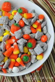 Pumpkin Spice Chex Mix With Candy Corn by Pumpkin Spice Muddy Buddies Crafty Recipes