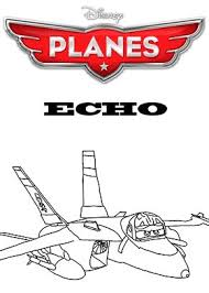 Print Free Colouring Sheets With Echo From Planes