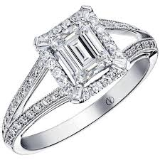 Preowned Clarence Emerald Cut Ring $8 233 ❤ liked on Polyvore