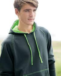 j america 8883 shadow fleece hooded pullover sweatshirt