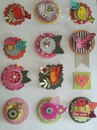 Craft Scrapbook Embellishments Flower Bird By Thepompouscardmaker