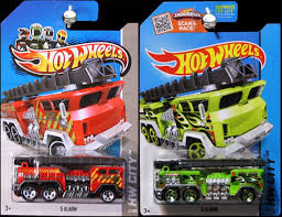 100 Black Fire Truck Buy Set Of 2 S Hot Wheels 5 ALARM Lime Green Red