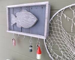 Wood Key Holder Fish Wall Hanging Rack