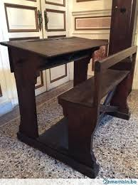 bureau d 馗olier ancien en bois 1 place bureau d ecolier ancien en bois pupitre acolier ancien bois et