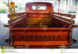 100 Classic Truck Central The Rear Of Vintage Chevrolet Pickup In Orange Has Parking As