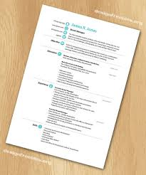 Resume Template Indesign By Free Templates Simple And Clean Cv With