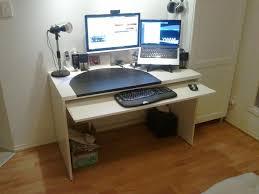 Wall Mounted Desk Ikea Hack by Add A Keyboard Tray To A Besta Desk Ikea Hackers