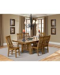 Laurelhurst Collection LAUROTT4SC2AC 7 Piece Dining Room Set With Trestle Table 4x Side Chairs And