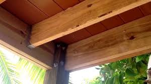 Free Standing Deck Bracing by Braces Under Deck Youtube