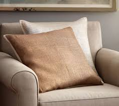 metallic printed flax pillow cover pottery barn