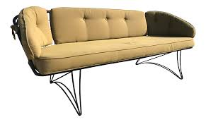 Vintage Homecrest Patio Furniture by Homecrest Mid Century Modern Metal Patio Sofa Chairish