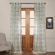 Sheer Curtain Panels With Grommets by Exclusive Fabrics Sea Glass Blue Grommet Sheer Curtain Panel