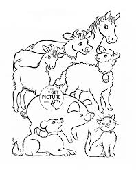 Farm Animals Coloring Page For Kids Animal Pages Printables Book Pdf Full Size
