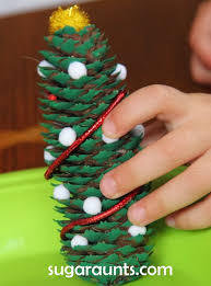 Pine Cone Christmas Tree Ornaments Crafts by Diy Pine Cone Christmas Tree Ornament The Ot Toolbox