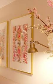 Ikea Ribba Frames Sprayed In Gold And Use Fabric As Art I LOVE