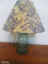 Punched Tin Lamp Shade Country by Ll Farm Decorating With Vintage Blue Mason Jars