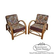Ficks Reed Lounge Chair by Vtg Ficks Reed Mid Century Modern Rattan Bamboo Dining Set Round