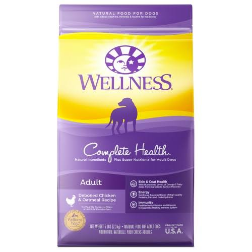 Wellness Complete Health Natural Dog Food - Chicken and Oatmeal, Dry, Adult