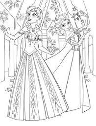Color Pages Of Anna Elsa Frozen Walt Disney Princess Characters