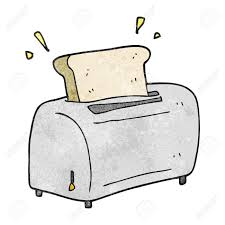 Freehand Textured Cartoon Toaster Stock Vector
