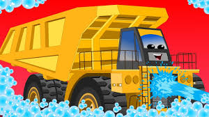 Dump Truck | Car Wash | Educational Video For Kids - YouTube