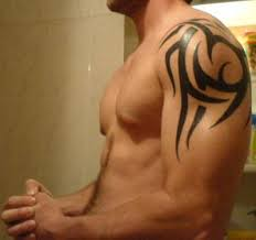 Curling Tribal 165 Shoulder Tattoos
