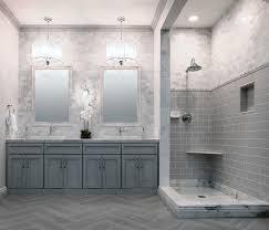 style profile white marble midcentury bathroom minneapolis