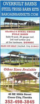 STEEL TRUSS POLE BARN KITS INCOME TAX SALE!!!!!! GAINESVILLE ... Armour Metals Steel Truss Pole Barn Kit Diy Youtube 64 Best Wick Buildings Recreational Images On Pinterest Prices Strouds Building Supply Metal Florida Choice Carports American Kits Double Carport Canopies For Sale Tampa Prefab Alinum Garage Elephant Structures Tent Woodys Barns Horse Best Built Of America In Chiefland Fl 352 53 Garages Sheds And Cstruction Photo Gallery Ocala