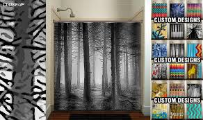 Yellow And Grey Bathroom Window Curtains by Fifty Shades Of Gray Woodland Forest Trees Shower Curtain