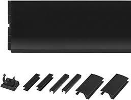holzbrink 150cm sockelblende sockelleiste für einbauküche 150mm höhe schwarz hochglanz hbk15