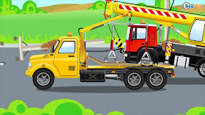 100 Cement Truck Video Cars Cartoon Episodes For Kids W The Blue Mixer 1 HOUR