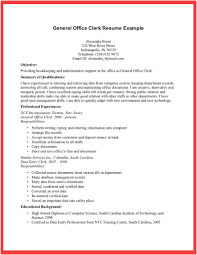General Office Clerk Resume Example