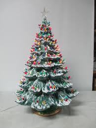 Glass Bulbs For Ceramic Christmas Tree by Retro Ceramic Christmas Tree Have A Collection Of Vintage