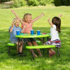 lifetime children u0027s oval picnic table lime green walmart com