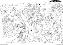 Free Doctor Who Stories And Tales Coloring Pages For Kids