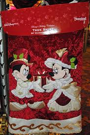 Disney Mickey Minnie Mouse Victorian Christmas Tree Skirt New
