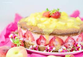 pfirsich erdbeere torte oder kuchen knusperstübchen