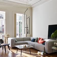 Hickory Chair Raised Panel M2M LAF Corner Sofa