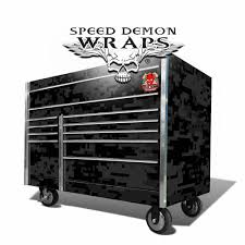 100 Black Truck Box SNAP ON TOOL BOX GRAPHICS WRAP KITBLACK DIGITAL CAMOUFLAGE Speed